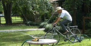 pedaling to irrigate